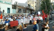 A demonstration for social justice at Wadi Nisnas (Haifa), August 13, 2011