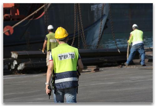 Workers in Ashdod Port (Photo: Ashdod Port)
