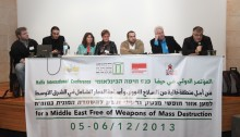 A workshop during the Conference for a Nuclear Weapons and Weapons of Mass Destruction Free Zone in the Middle East held in Haifa, Israel, on 5 and 6 December 2013 (Photo: The Israel Office of the Rosa Luxemburg Stiftung)