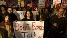 Demonstration in Tel-Aviv for nuclear weapons and weapons of mass destruction free zone in the Middle East (Photo: Pax Christi)
