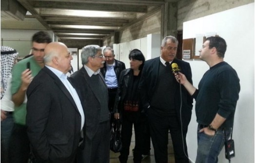 MK Barakeh in court with MK Afo Agbarie and Hadash leading member Ramez Jeraisy (Photo: Al Ittihad)