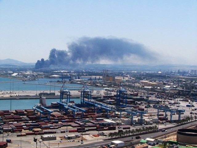 Air pollution in Haifa Bay (Photo: Ministry of Environmental Protection)
