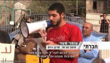 Omar Saad in a demonstration before the first prison term (Photo: Social TV)