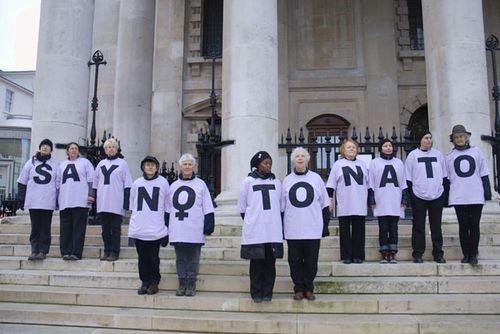 "Women say ""No to NATO"" in London, 2010 (Photo: Notowar)"