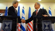 U.S. Secretary of State, John Kerry and Israeli Prime Minister Benjamin Netanyahu, Jerusalem. December 2013 (Photo: Al Ittihad)