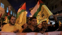 A demonstration in solidarity with Palestinian prisoners, Nablus, May 14 2014 (Photo: Activestills)