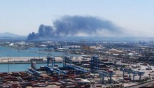 Pollution in the Haifa Bay (Photo: Ministry of Environmental Protection)