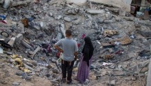 Destruction in Beit Hanoun following bombardment by Israeli forces, North Gaza Strip, August 11, 2014. During the last Israeli attack, 16,800 Homes in the Gaza Strip have been destroyed or severely damaged and 370,000 displaced (Photo: Activestills)