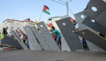 Combatants for Peace's joint Palestinian-Israeli demonstration against the occupation of the West Bank, May 2014 (Photo: Combatants for Peace)