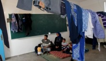 A Palestinian family which took shelter in United Nations (UNRWA) school in Gaza (Photo: Gisha)