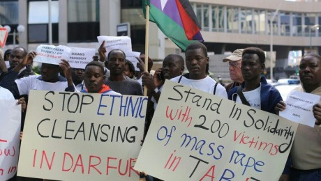 Hundreds of Sudanese asylum seekers marked International Day for the Elimination of Violence against Women and marched from Tel-Aviv to Ramat-Gan (Photo: Activestills)