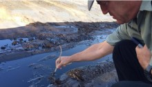 Five million liters of crude oil spilled out of the pipeline being repaired by the Eilat-Ashkelon Pipeline Company and badly damaged the Evrona Nature Reserve.