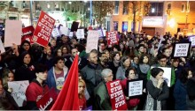 Saturday night's demonstration against racism at Zion Square, Jerusalem.
