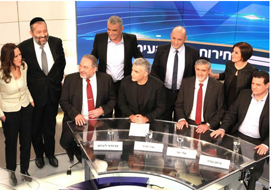 On Thursday night, February 26, the leaders of eight parties – The Joint List, Yahad, Yesh Atid, Yisrael Beytenu, Meretz, HaBayit HaYehudi, Kulanu, and Shas, – participated in the first debate of its kind on Israeli television, moderated by Channel 2 News anchor Yonit Levi.