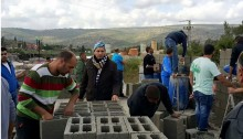 With support from the local Popular Committee, Kufr Kana residents start rebuilding the demolished home in Kufr Kana.
