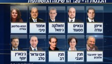 From right to left and top to bottom, the first ten then-candidates (now MKs) from the Joint List