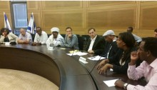 The emergency meeting held on Tuesday, May 12, to discuss the issue of racism following recent demonstrations against the treatment of the Ethiopian community in Israel