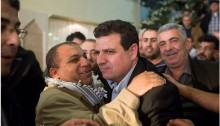MK Ayman Odeh during a Hadash meeting in the Galilee