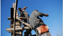 Construction workers in Gaza