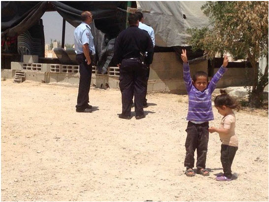 Arab-Bedouin children in Al-Araqib, an unrecognized village in the Negev