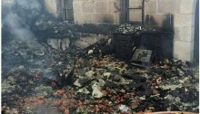 Destruction at the church of the Multiplication at Tabgha apparently torched by Jewish Right-Wing Extemists, June 18, 2015