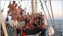 "Israeli activist Reut Mor on board a 2012 flotilla to Gaza. Mor was detained by the ""Shin Bet,"" Israel's General Security Service, upon her return from a vacation in Greece earlier this week."