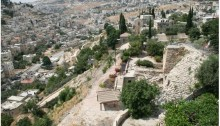 """Area G in the """"City of David"""" archaeological park in Silwan"""