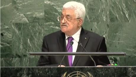 President Mahmoud Abbas addresses UN General Assembly, September 30, 2015. (Photo: AP)