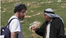 Rabbi Ascherman with a Palestinian agricultural worker in the occupied West Bank