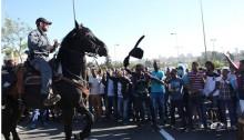 A demonstration of Israelis of Ethiopian origin in Tel-Aviv, April 2015