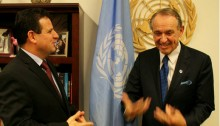 MK Ayman Odeh at the United Nations Headquarters with Deputy Secretary-General Jan Eliasson