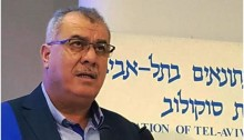 Mohammad Barakeh, Chairman of the High Follow-Up Committee for Arab citizens of Israel, at a press conference at the Sokolov Journalists House in Tel Aviv, January 24, 2016