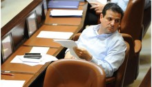 Joint List leader, MK Ayman Odeh (Hadash), during the Knesset session on Monday