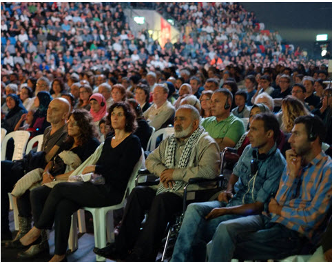 Israeli-Palestinian Memorial Day ceremony, Tuesday evening, May 10, in Tel-Aviv