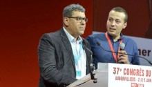 Adel Amer, Secretary General of the Communist Party of Israel, on Thursday June 2, about to address the 37th National Congress of the French Communist Party held in Aubervilliers