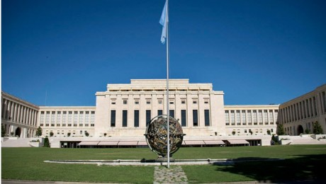 The Palais des Nations in Geneva, venue of next week's United Nations International Conference in Support of Israeli-Palestinian Peace