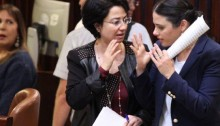 MK Hanin Zoabi and Minister of Justice Ayelet Shaked in the Knesset plenum