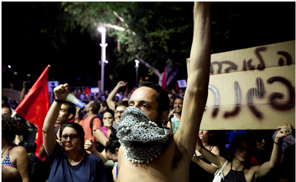 A protest in Tel-Aviv for housing rights, July 2011