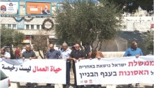 CPI picket protesting the plague of deaths in the building sector, Nazareth, Saturday September 9