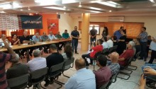 The press conference at Balad party headquarters in Nazareth, on Sunday, September 18