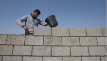 Construction worker in the Gaza Strip