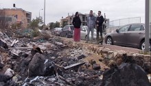 """One of the """"cases of arson"""": A resident of Um el-Fahem burned garbage in the Arab city."""