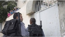 Israeli Border Police in the Palestinian neighborhood of Silwan in occupied East Jerusalem