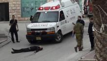 The body of Abd al-Fatah al-Sharif in Hebron following his fatal shooting by Elor Azaria