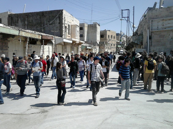 Breaking the Silence activists lead an educational tour in occupied Palestinian city of Hebron.