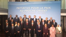 Participants in a previous meeting held in Paris last June, towards the Mideast peace summit to be held today, January 15, 2017
