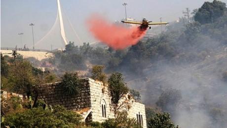 A fire near the western entrance to Jerusalem last November