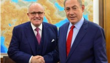 Prime Minister Benjamin Netanyahu meets with former New York City mayor, Rudolph 'Rudy' Giuliani, an envoy of US President Donald Trump, at Netanyahu's office in Jerusalem on Wednesday, January 25.