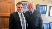 MK Odeh with Senator Bernie Sanders