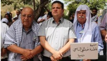 Joint List leader, MK Ayman Odeh (Hadash) during last year's Nakba commemoration near Tirat HaCarmel in northern Israel